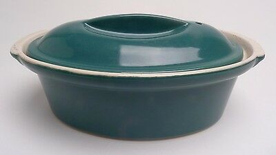 Green Cerami France Oval Casserole Dish With Lid