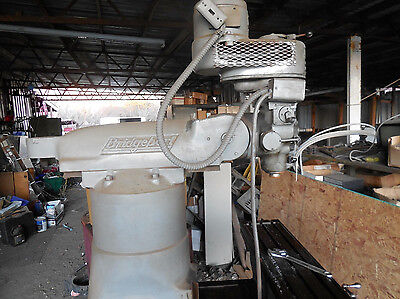 """Vertical Mill, Bridgeport J-Head, 9"""" X 42"""" Manual Table Tested 3 Phase 208 Volt"""