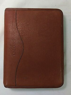 KING RANCH 100% Genuine Leather Address Book Daily Planner Binder Folder EUC