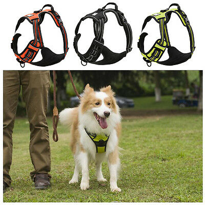 No Pull Dog Harness Reflective Mesh Padded Pet Training Vest Pitbull Labrador