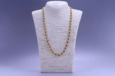 Exquisite China Hand Carved  Beaded  Jade Necklace   X10