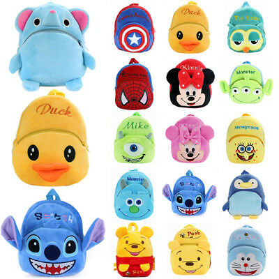 Kid Baby Boy Girl Toddler Plush Cartoon Backpack Schoolbag Toddler Shoulder Bag