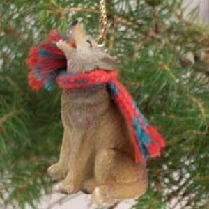 Coyote Christmas Ornament CY7