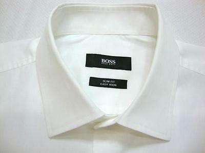 HUGO BOSS SLIM FIT White Woven Long Sleeve Shirt 15 - 33