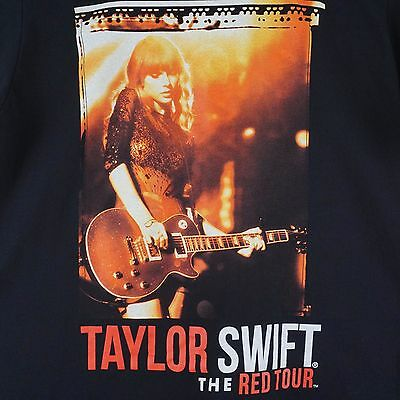Taylor Swift Small 2013-2014 The Red Tour Concert Tour Graphic T-Shirt - Black