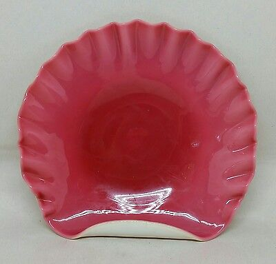 Hobbs Brockunier Victorian Custard Cranberry Cased Art Glass Shell Dish Plate