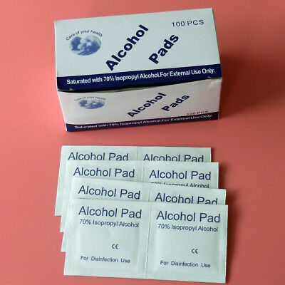 100/800 pcs 70% Isopropyl Alcohol Pad For Disinfection Use Body Tattoo Wipes