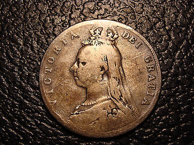 Large Silver 1889 United Kingdom Half Crown WE COMBINE ON SHIPPING