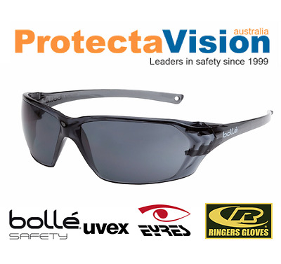 New BOLLE PRISM PLUS Safety Glasses * 10 PACK * Smoke or Clear Platinum Coating!