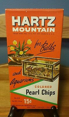 NOS VTG Hartz Mountain 13oz Colored Pearl Chips No. 310 Fish Graphics Unopened!