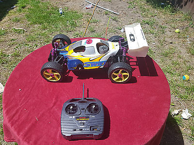 Vintage 1/8 Scale Nanda Swift Rc Racing Car With Radio Gear
