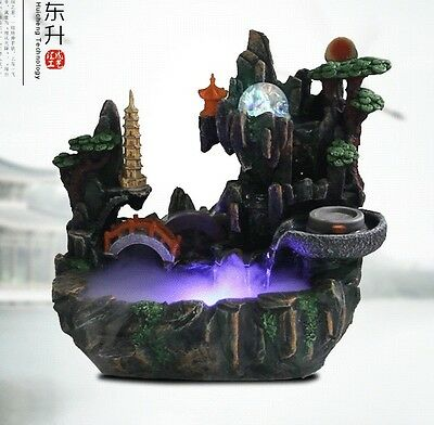 Resin water fountain ornaments artificial Aromatherapy landscape fengshui craft