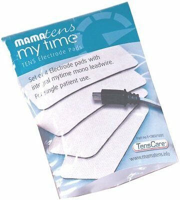 ORIGINAL MamaTENS MyTime Electrode Pads - Set of 4 Pads with Integral Leadwire