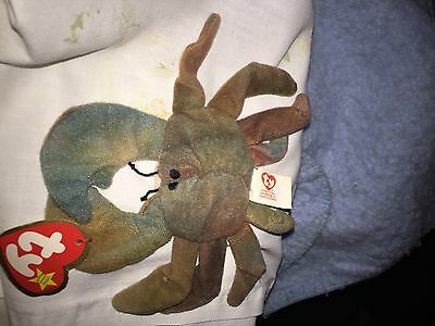 "Rare Original TY ""Claude"" The Crab Teenie Beanie Baby"