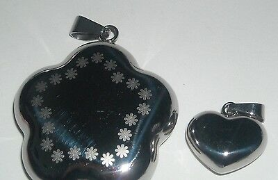Stainless Steel Lot of 2 Pendants- Free Ship!