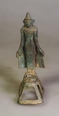 Amazing Antique Burma Buddha pagoda  Shan Style Bronze   17-19th Century  29