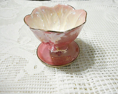 Vintage Porcelain Pink English Maling Lustreware Sweets Bowl Excellent