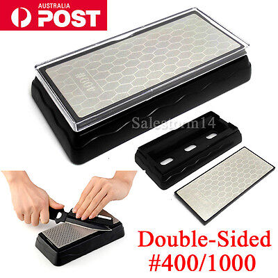 Double-Sided Diamond Knife Sharpener sharpening stone Whetstone 400/1000Grit