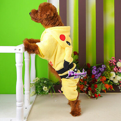 Puppy Sweater Pet Dog Cat Coat For Pikachu Warm Costume Clothing