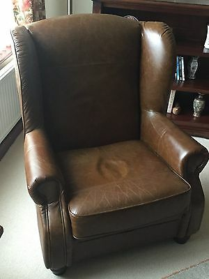Real leather chair only four months old