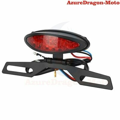 12V Red LED Motorcycle Brake Tail Stop License Plate Integrated Light