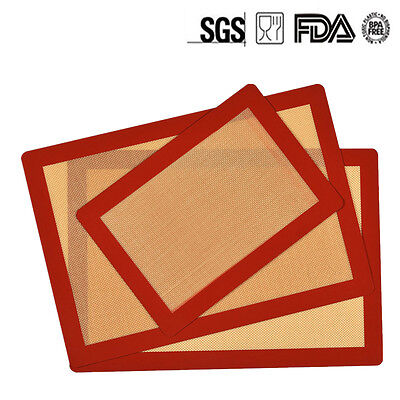 S/M/L Silicone Baking Mat BBQ Pad Non Stick Heat Resistant Liner Oven Sheet Mats
