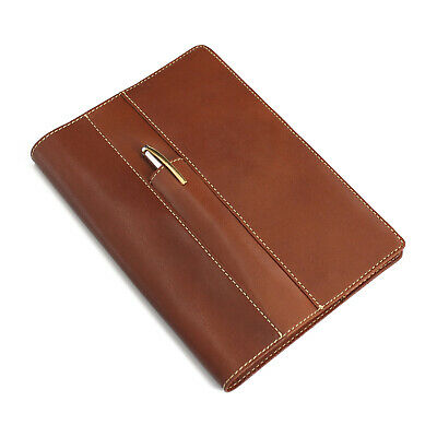 A5 Leather Journal Notebook with Mobile Phone and Pen Holder Business Style