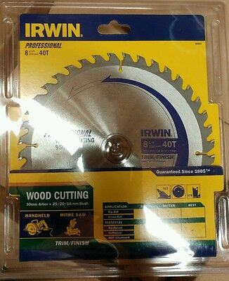 "Irwin Circular Saw Blade 210mm 8 1/4"" 40T professional mitre trim finish"
