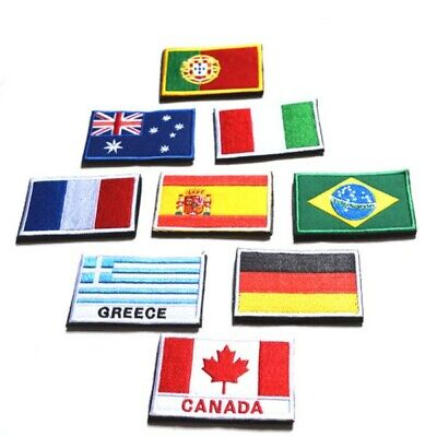 Fashion Nation Flag Emblem Badge Patch Sew Embroidered Country Sew Trim 2*3 inch