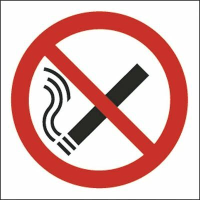 Safety Sign No Smoking Symbol 100x100mm Self-Adhesive (Pack of 5) [SR71045]