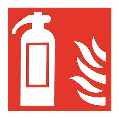 Safety Sign Fire Extinguisher Symbol 100x100mm Self-Adhesive [SR71156]