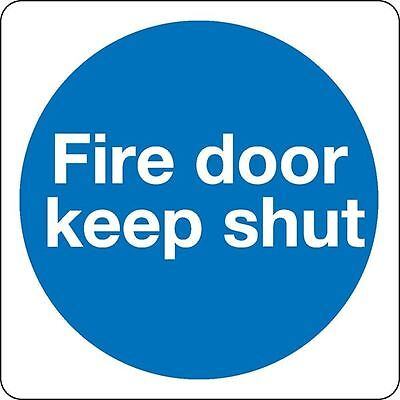 Safety Sign Fire Door Keep Shut 100x100mm Self-Adhesive (Pack of 5) [SR71242]