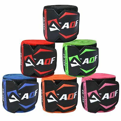 AQF 4.5m Hand Wraps Inner Gloves MMA Boxing Bandages Training Muay Thai Stretch