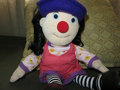 """Loonette The Clown 1995 RARE Molly Big Comfy Couch PBS 20"""" Doll Plush Vintage"""