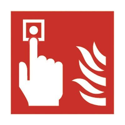 Safety Sign Fire Alarm 100x100mm Self-Adhesive (Pack of 5) KF68B/S [SR71162]