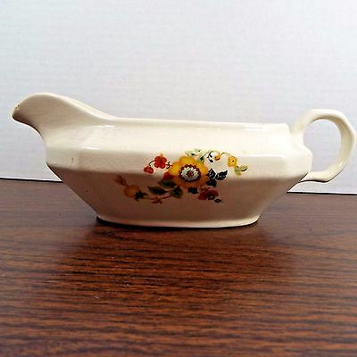 Vintage Edwin Knowles Gravy Boat #28-1-6 Ivory with Floral Design