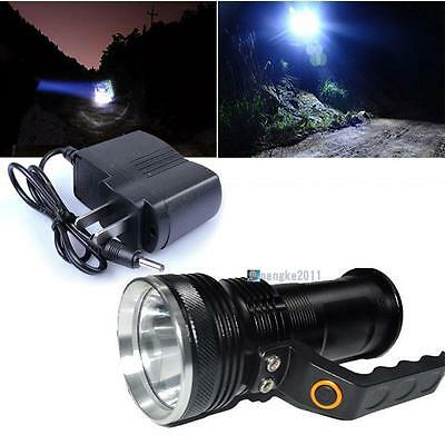 8000LM Handheld CREE XM-L T6 Rechargeable LED Flashlight Torch Lamp + Charger AG