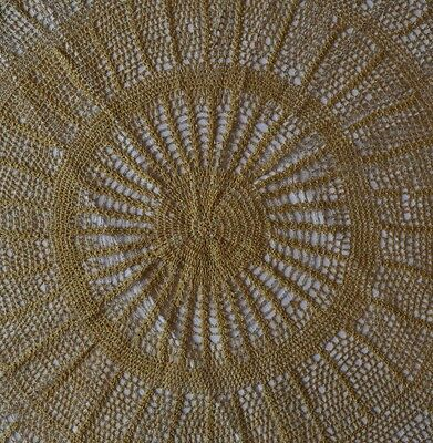 Vintage Round Crochet Large Centrepiece or Small Tablecloth - 70cm