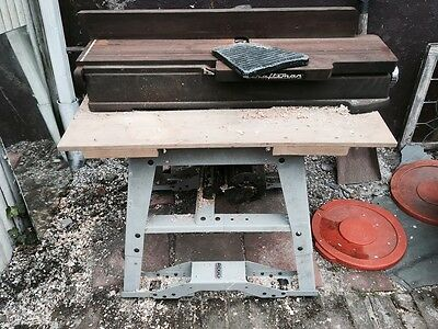 Craftsman Planer Jointer Joiner 10320620 with Ridgid Rolling table stand