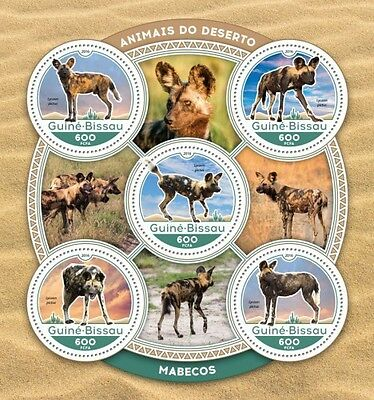 Z08 IMPERFORATED GB16602a GUINEA-BISSAU 2016 African wild dogs MNH