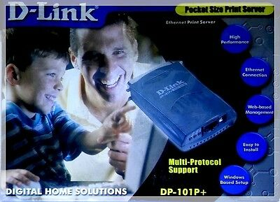 D-Link Ethernet Pocket Size Print Server - Porta Parallela