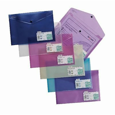 Snopake Polyfile Lite A4 Assorted (Pack of 5) 15411 [SK19588]