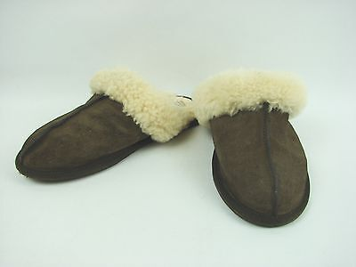 UGG Brown Suede Sherpa Lined Slippers Women's Size 7 Indoor Outdoor Rubber Sole