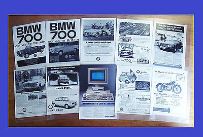 10 - CLASSIC BMW ADVERTS - 1951 to 1990
