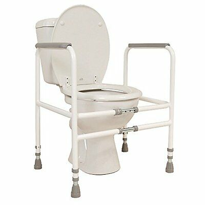 NRS Healthcare M00870 Free Standing Toilet Frame - Width   Height Adjustable  El