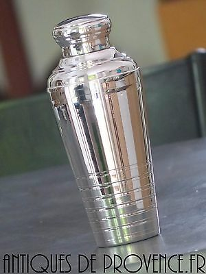 Antique Silverplated Art Deco Shaker cocktail 1930 French Brilliant luster 22cm