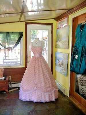 Pink and White Southern Belle Day Dress