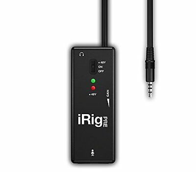 iRig Pre Universal Microphone Interface for iPhone iPod Touch iPad