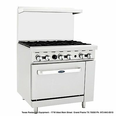 "NEW ATOSA Cook Rite GAS 36"" Stove range 6 burners with oven ATO-6B"
