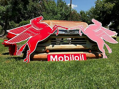 Antique Vintage Old Style Mobil Pegasus Awesome Right Facing + Free Bonus!